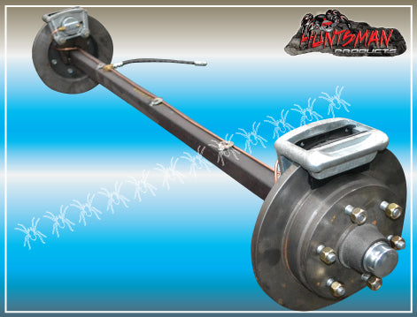1600Kg Parallel Hydraulic Disc Braked Axle. 50mm Square