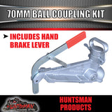 70mm 4.5T ELECTRIC BRAKE COUPLING AND 70MM TOW BALL