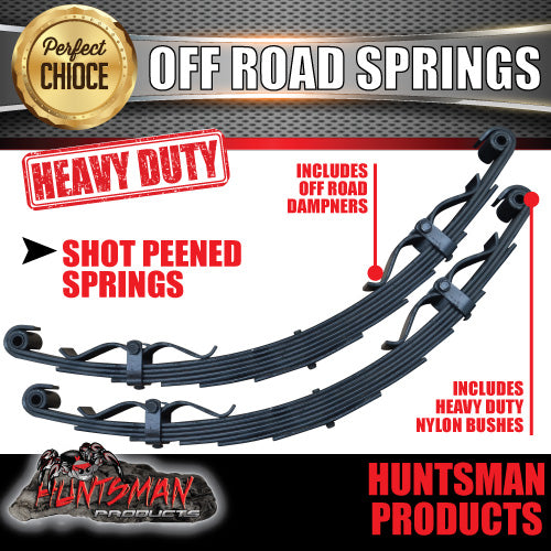 x2 7 Leaf Off Road springs 1600Kg with Rebound Straps
