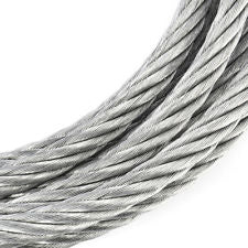 50 Metres Zinc Plated 7x7 steel 4mm Wire Cable Rope