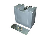 75 LITRE UPRIGHT WATER TANK WITH 12V PUMP AND MOUNT KIT