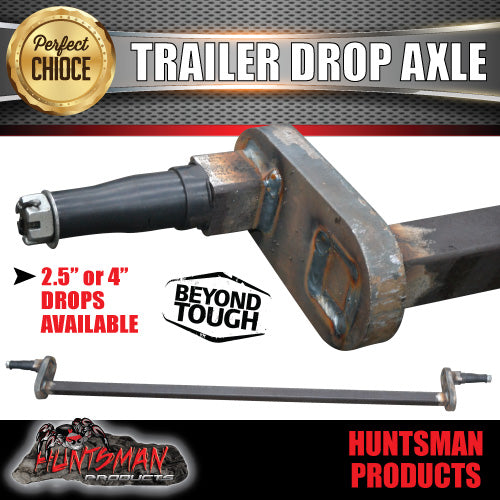"2.5"" OR 4"" DROP AXLE. 40MM SOLID."