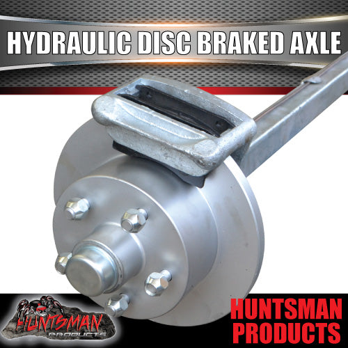 "Galvanised 40mm Square Hydraulic Disc Braked Axle. 1000Kg rated 78""-96"""