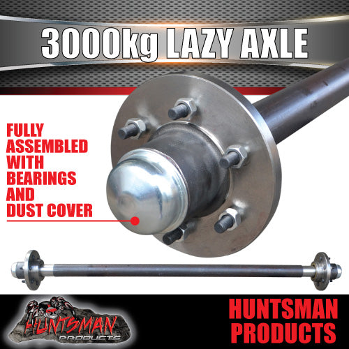 65mm Round 3000Kg Lazy 6 or 5 Stud Landcruiser PCD Trailer Caravan Solid Axle