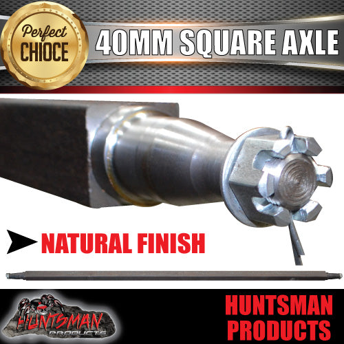 "TRAILER AXLE 40MM SQUARE ,81"". 2055MM."