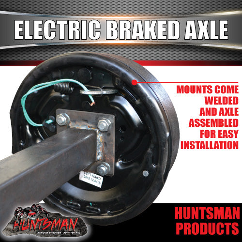 1600Kg Parallel Electric Drum Braked Axle. 50mm Square