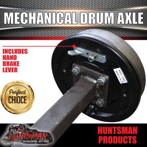 40mm Square Mechanical Drum Braked Axle. 1000Kg rated 63