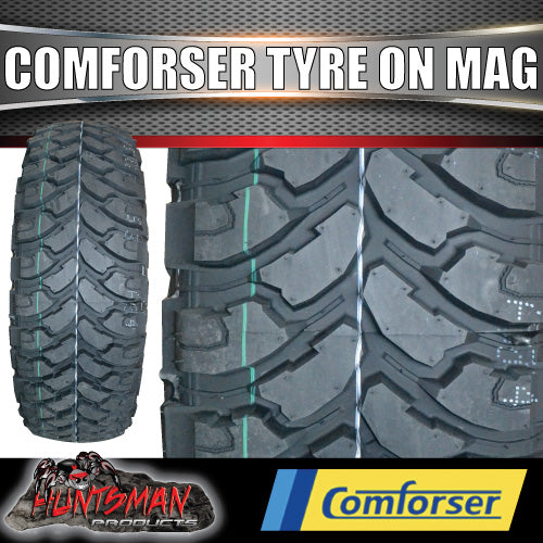 15X8 GT MAG 6/139.7 FITTED WITH 32X11.5R15 COMFORSER MUD TYRE. 32 11.5 15