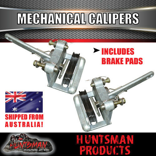 DIY 1400Kg Boat Jet Ski Trailer Kit. Slipper Springs Mechanical Disc, Stub Axles