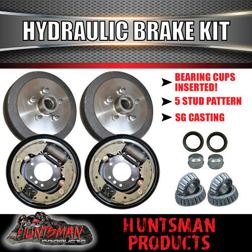 DIY Trailer Kit 1400Kg Rated. Hydraulic drum Braked Eye to Eye Springs