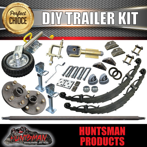 DIY  off road trailer kit. off road springs, 45mm axle