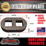 "2.5"" Drop axle plate suits 40mm square trailer Caravan axle. 30mm thick"
