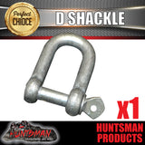 1X 10MM glavanised D Shackle. BOAT TRAILER CARAVAN TOW BAR