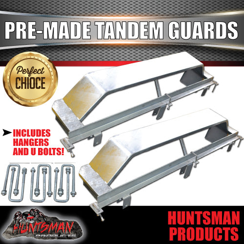 PRE MADE TANDEM GALVANISED GUARDS AND ROCKER ROLLER HANGERS SET