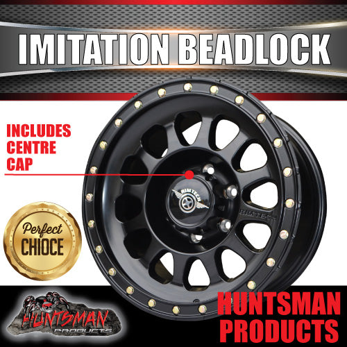Copy of 17x8.5 Imitation Beadlock Alloy Mag Wheel 6/139.7 Black finish