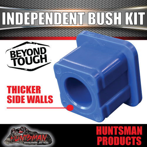 X8 New Style Independent suspension Neoprene Thicker Bushes 38mm Square, 22mm ID