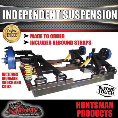 4000KG TANDEM INDEPENDENT SUSPENSION. IRONMAN SHOCKS & COILS