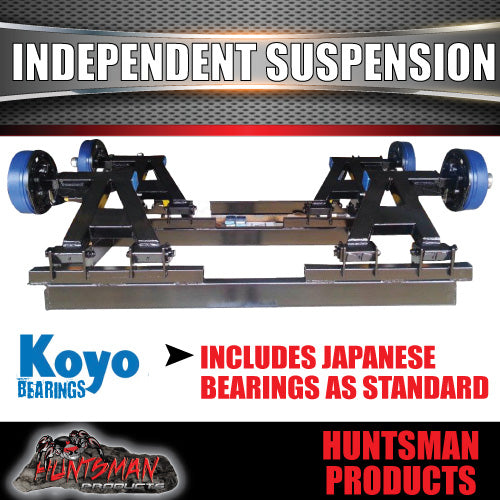 TANDEM 4500KG INDEPENDENT SUSPENSION. IRONMAN SHOCK & COIL
