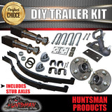 DIY SINGLE AXLE TRAILER KIT. 1000KG RATED. STUB AXLES.