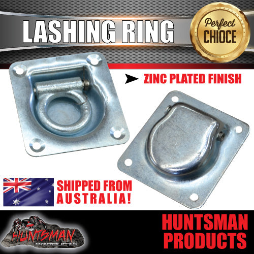 4X LASHING RING.ZINC PLATED. TIE DOWN ANCHOR POINT. 105MM X 95MM