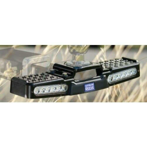 Hayman Reese Hitch Step + 12V LED Lights. Rated 150Kg Aluminium
