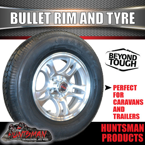 "14"" Bullet Alloy & 185R14C Tyre suits Ford pattern. 185 14"