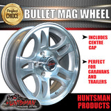 14x5.5 Bullet Alloy Mag Wheel: Ford pattern