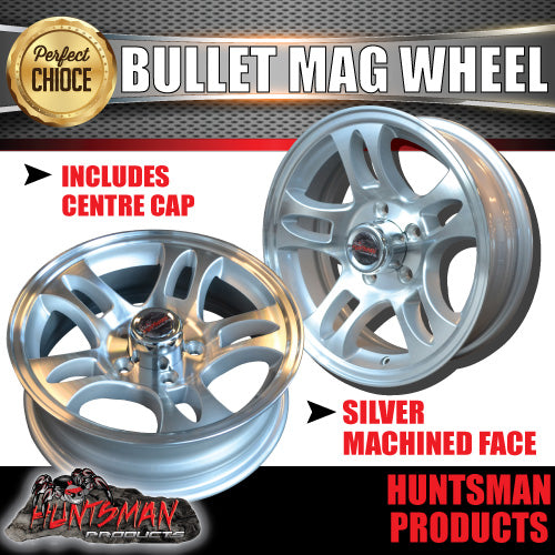 15x5 5 Stud Bullet Mag Wheel: Ford pattern
