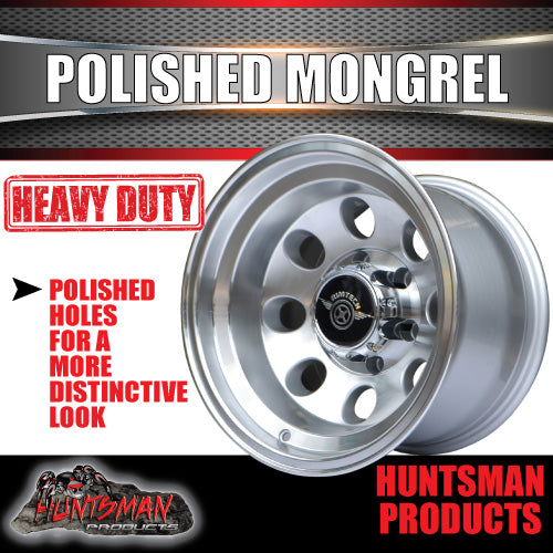 15X10 -44 Mongrel Alloy 6/139.7 pcd Polished