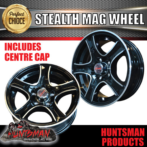 14X5.5 HT Holden Stealth Alloy Mag Wheel