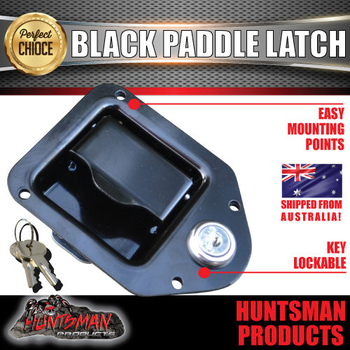 x2 Mini Black E coated Paddle Toolbox Lock Latch.