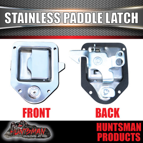 x1 Mini Stainless Steel Paddle Toolbox Lock Latch.