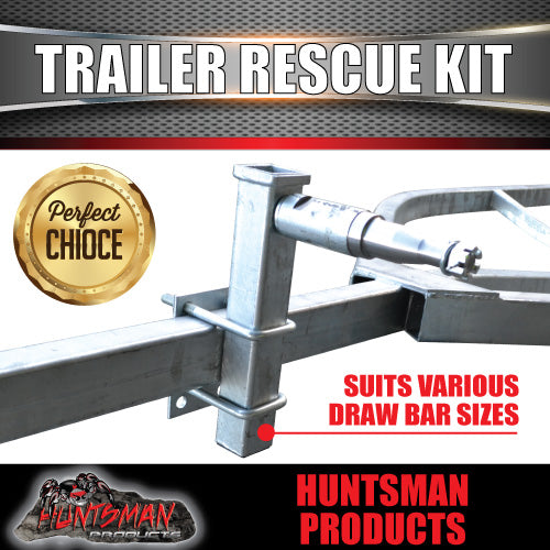 Trailer Rescue Kit , Spare Wheel, 165r13 Tyre & Holder inc hub & S/L bearings