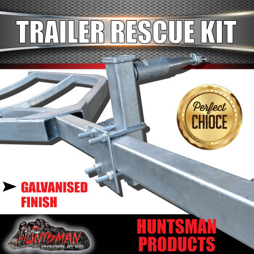 Trailer Rescue Kit & Spare Wheel Holder suit S/L Bearings