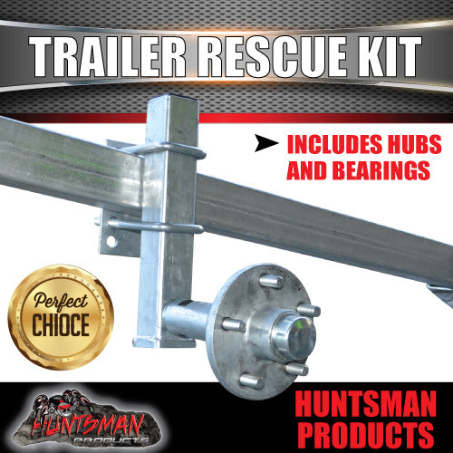Trailer Rescue Kit , Spare Wheel Holder inc hub & L/M bearings. Dolly Wheel