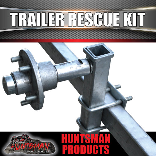 Trailer Rescue Kit , Spare Wheel Holder inc hub & S/L bearings. Dolly Wheel
