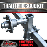 Trailer Rescue Kit , Spare Wheel, 185r14 Tyre & Holder inc hub & S/L bearings