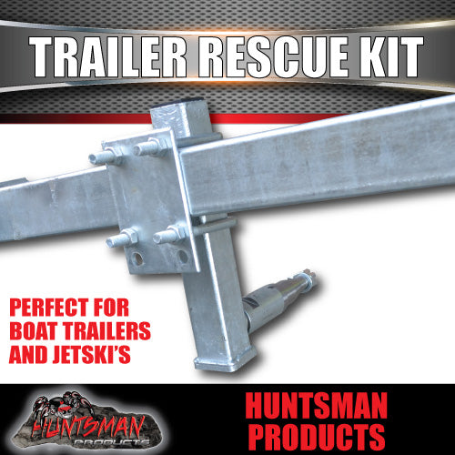 Trailer Rescue Kit & Spare Wheel Holder Suit LM bearings