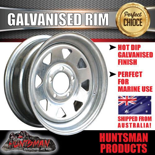 "14"" GALVANISED RIM: FORD PATTERN"