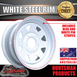 "13"" WHITE POWDERCOATED RIM: SUITS FORD PATTERN"
