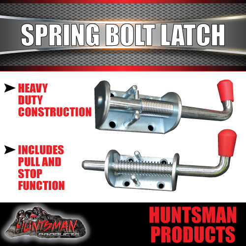 X2 TAIL GATE TRAILER TRUCK SPRING BOLT LATCH CATCH 12X160MM .