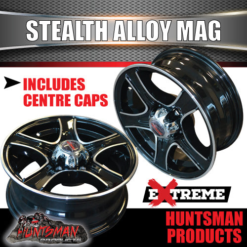 15X5 Stealth Alloy Mag Wheel: suits Ford pattern
