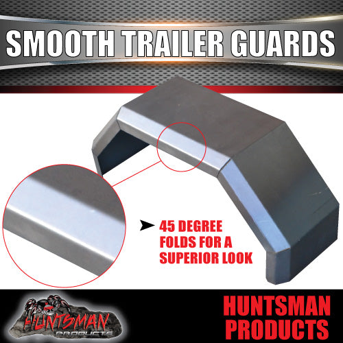 TRAILER GUARDS -SINGLE AXLE 250mm- SMOOTH STEEL