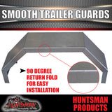 TRAILER GUARDS & STEPS -SINGLE AXLE 250mm- SMOOTH STEEL