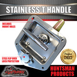 X10 STAINLESS STEEL T HANDLE LOCKS. FLUSH MOUNT