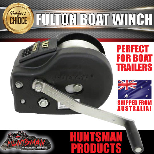 Fulton 2600Lb (1181kg) 2 Speed Winch 20' (6m) Strap. Black Cover