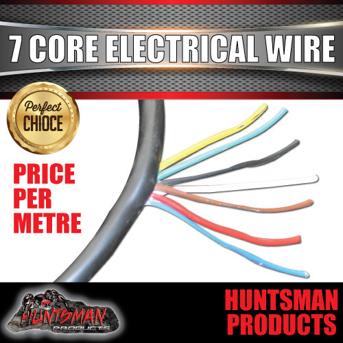 7 CORE ELECTRICAL TRAILER WIRE PER METRE .