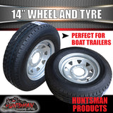 "14"" GALVANISED 6 STUD STEEL WHEEL & 185R14C TYRE. 185 14"