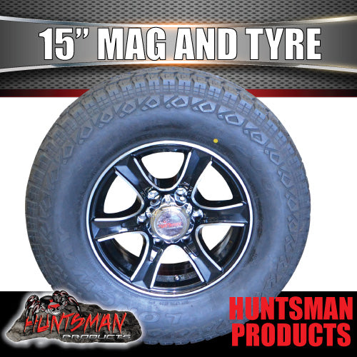 "15"" 6 Stud Stealth Alloy & 235/75R15 LT Tyre. 235 75 15"
