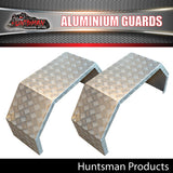 TRAILER GUARDS - OFF ROAD 330mm -  SINGLE AXLE - ALLOY CHEQUER PLATE
